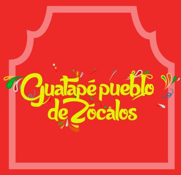 Guatapé pueblo de Zócalos